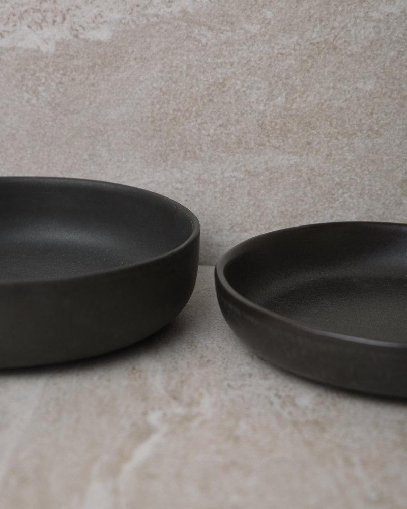 Deep Serving Plate Matte Black
