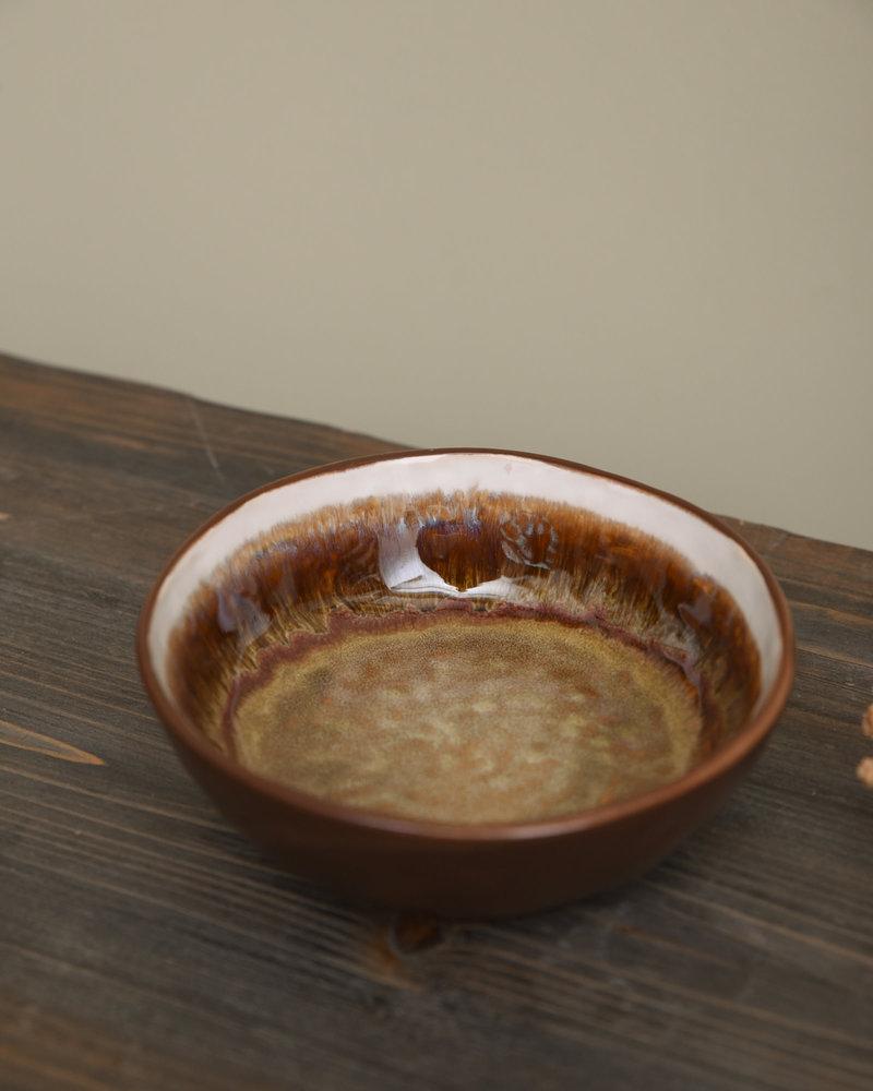 Bowl Todi White Brown