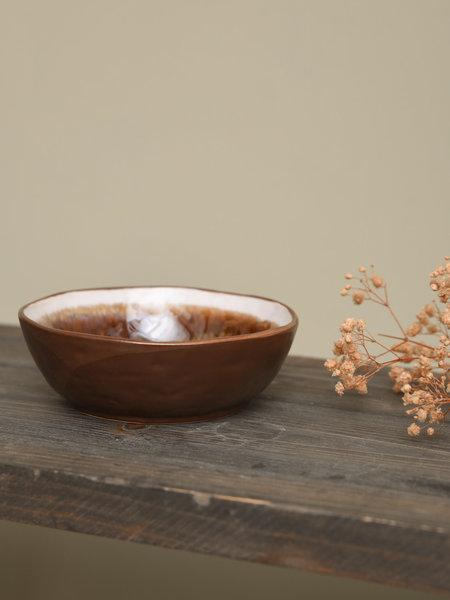 Basik Bowl Todi White Brown