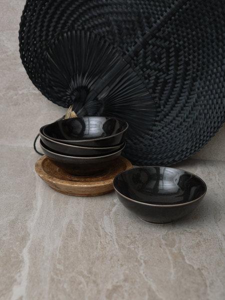 Broste Shallow Bowl Black Coal