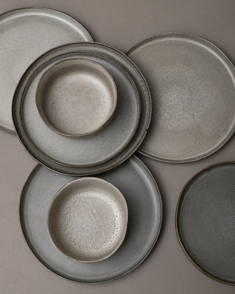 Breakfast Plate Matte Grey