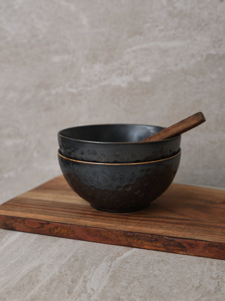 Bowl Hammered Black