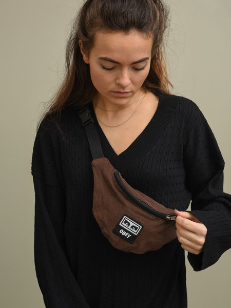 OBEY Wasted Hip Bag Brown