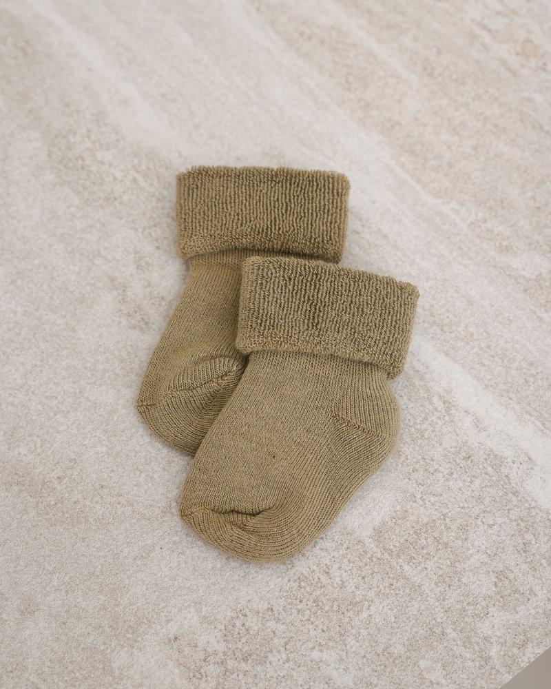 Baby Socks Terry Wool Safari Green
