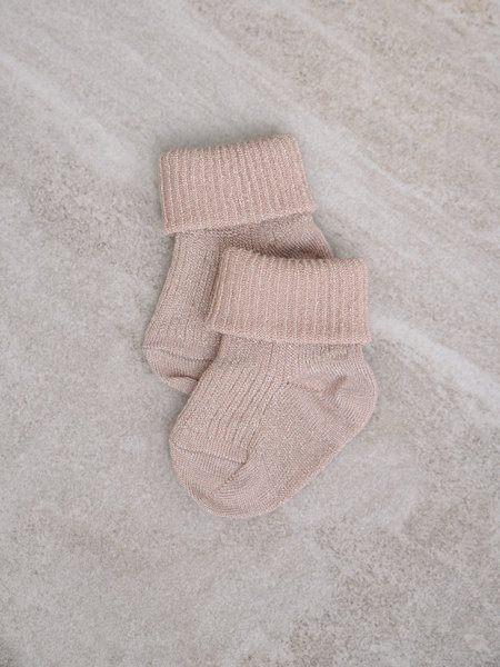 MP Denmark Baby Socks Ida Glitter Rose Dust