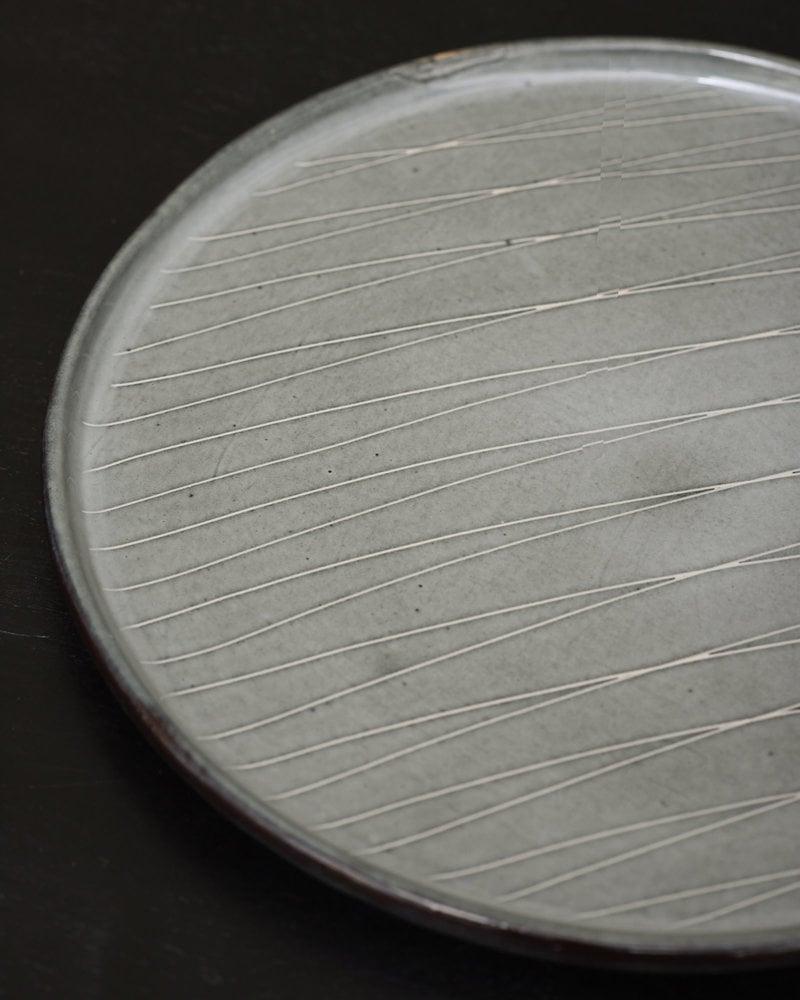 Plate Tabo Grey Striped