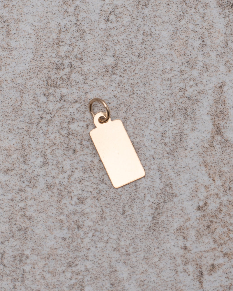 Earring Charm Tag Goldfilled