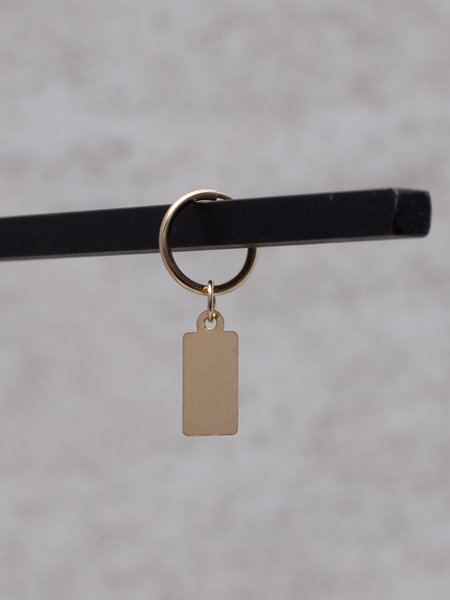 The Two Collectors Earring Charm Tag Goldfilled