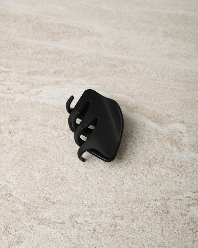 Claw Clip Black Matt Oval