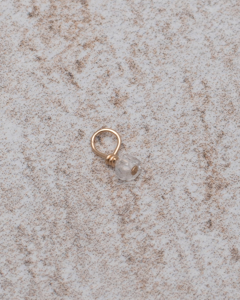 Earring Charm April Diamond  Goldfilled