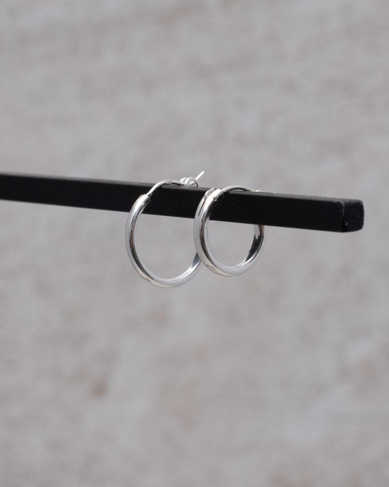 Earring Chunky Hoop 15mm Silver