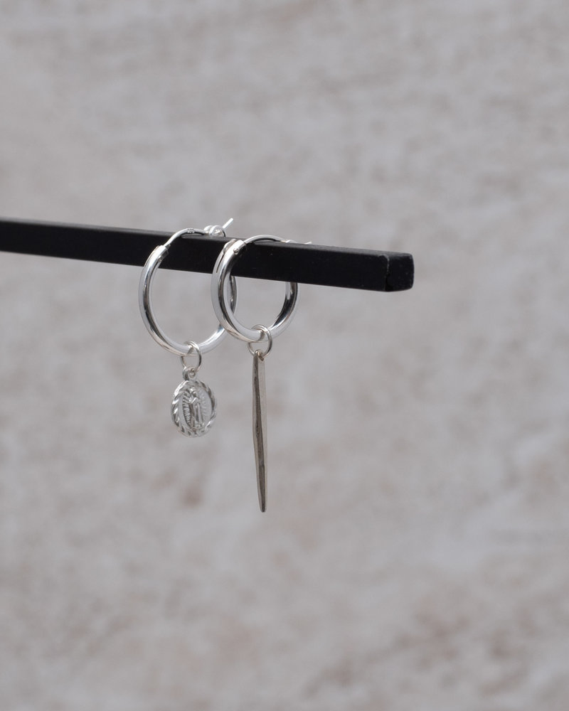 Earring Charm Twig Silver