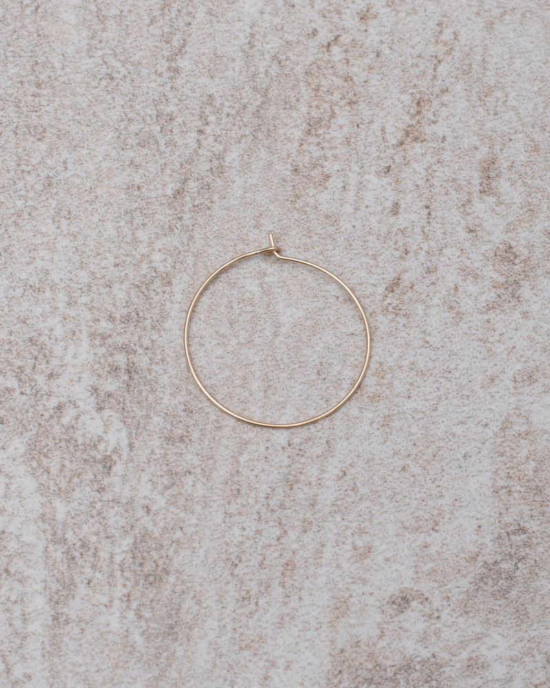Hoop Thin 25mm Goldfilled
