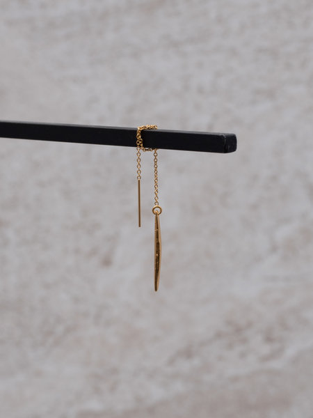 The Two Collectors Goldfilled Earchain Twig
