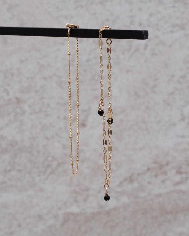 Bracelet Midnight Three Onyx Goldfilled