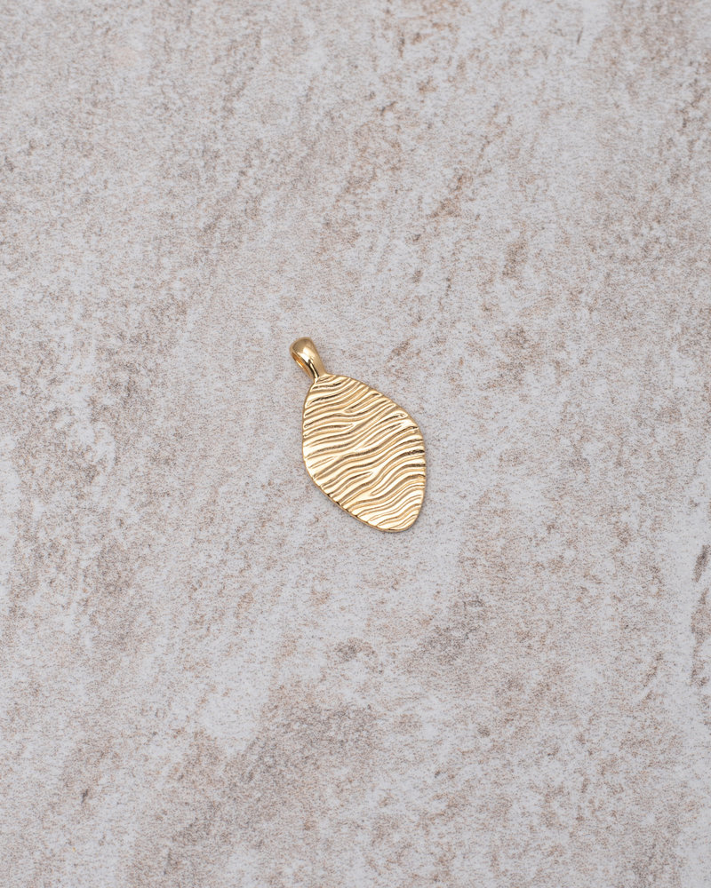 Water Ripple Pendant Gold Plated