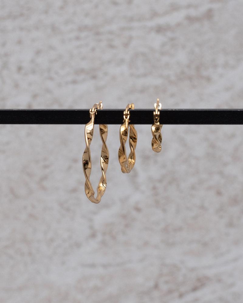 Wave hoop 10MM Gold