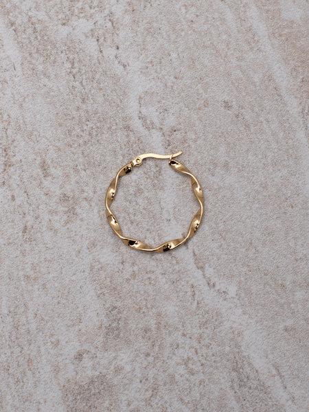 Wave Hoop 25mm Gold