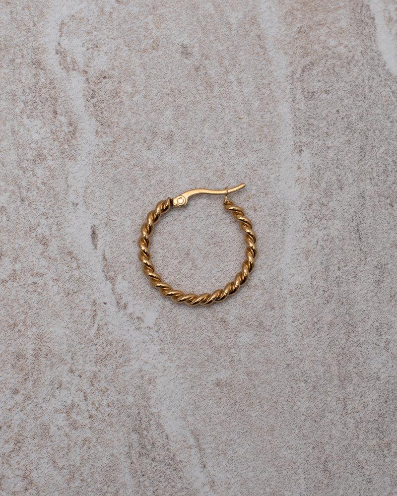 Twisty Hoop 25MM Gold