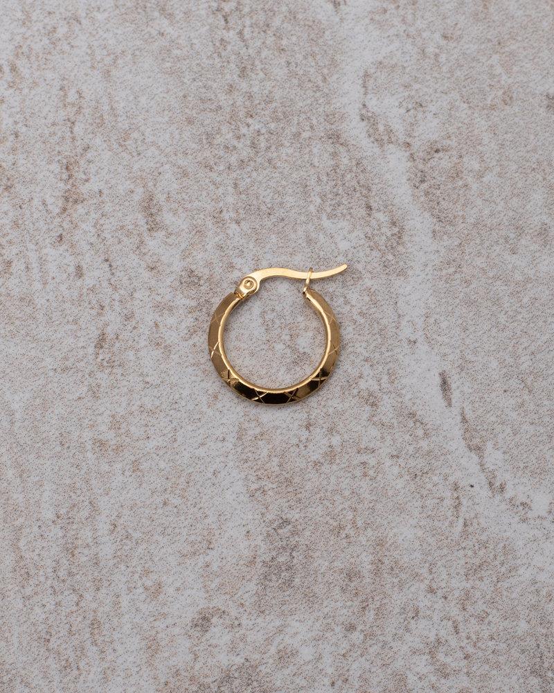 Rosa Hoop 15MM Gold