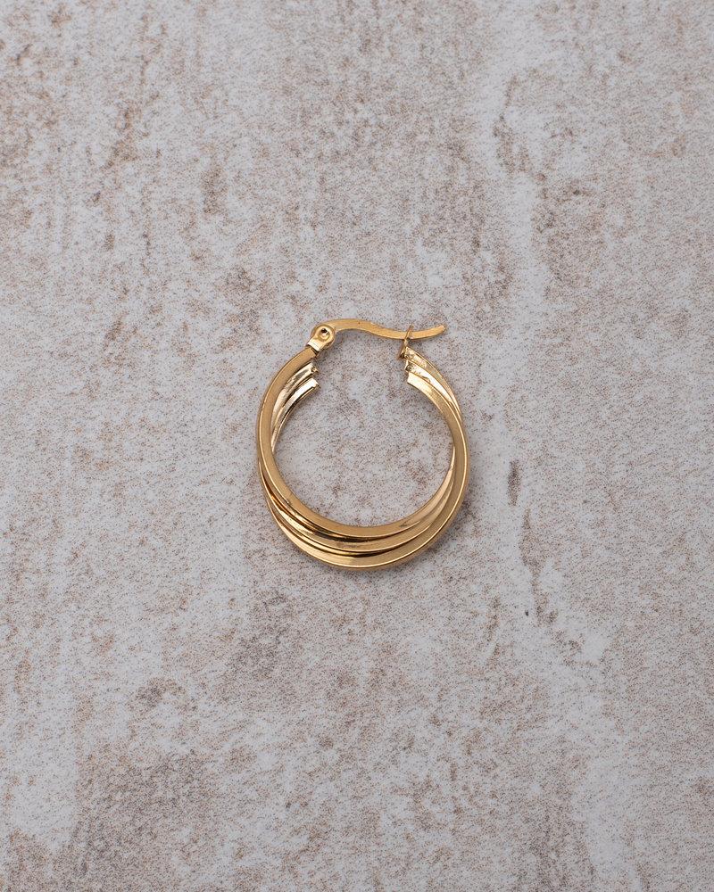 Triple Oval Hoop Gold