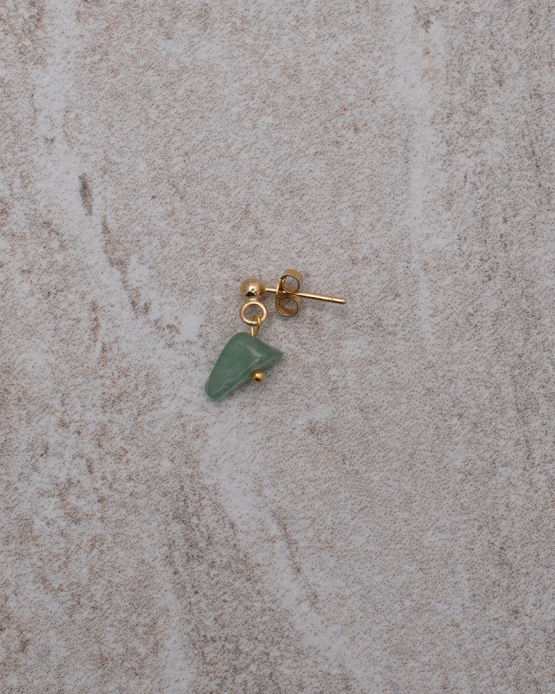 Jade Green Stone Stud