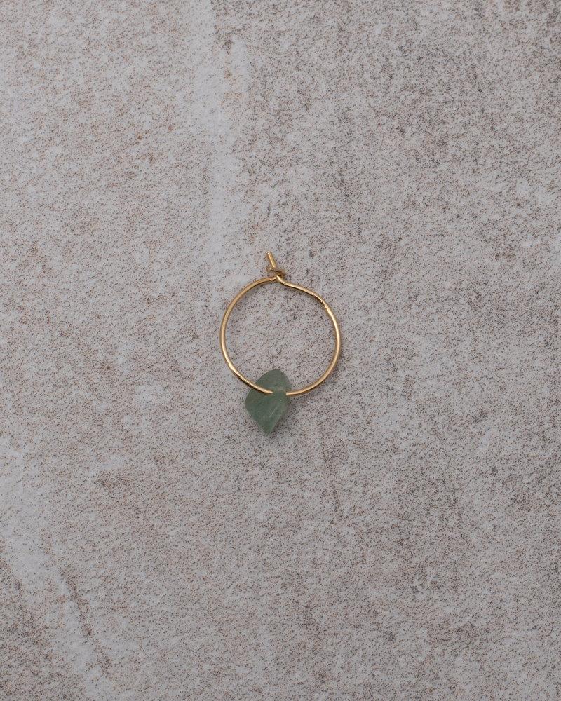 Jade Green Mini Hoop