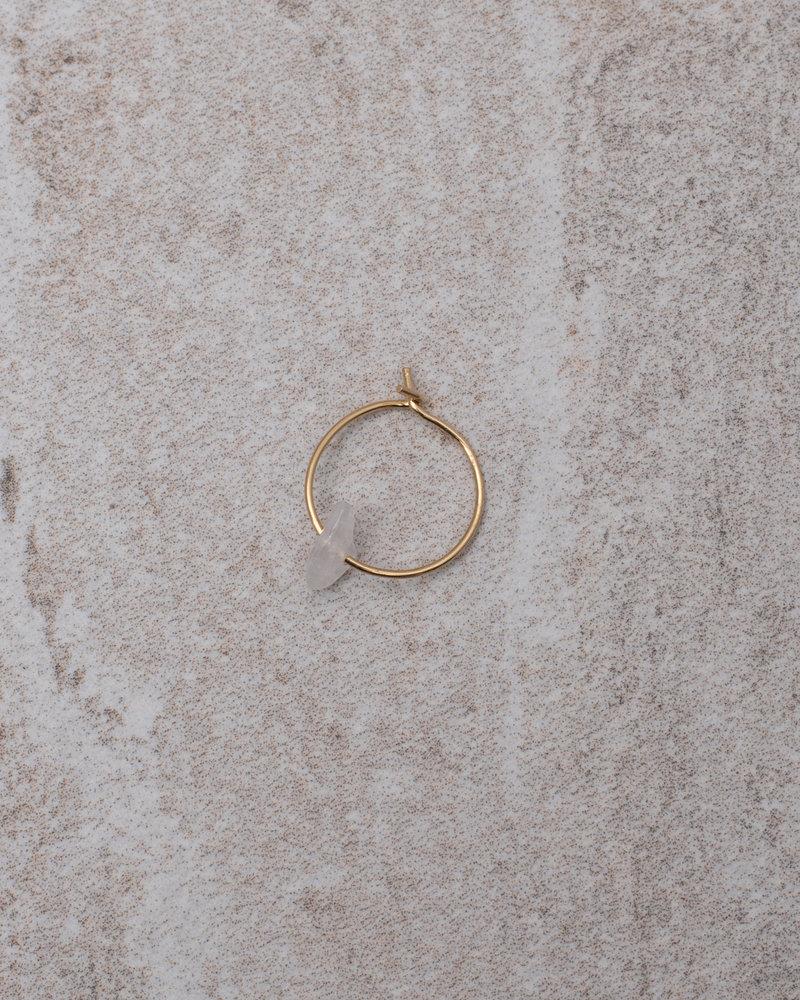 Rosequarts Mini Hoop White