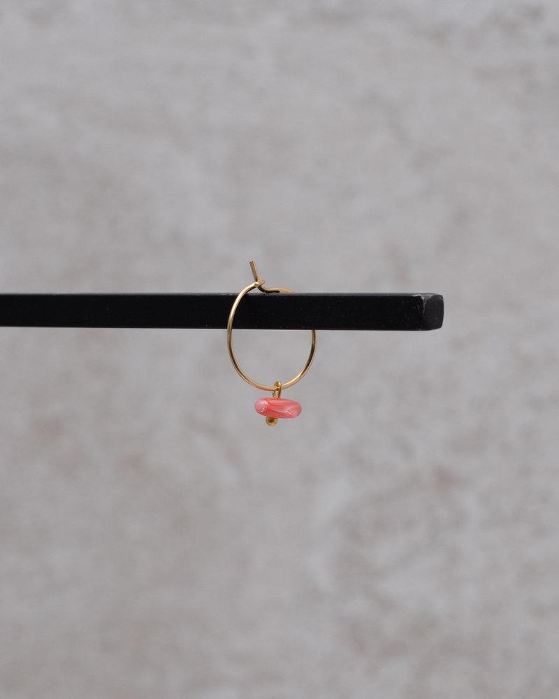 Pink Coral Mini Hoop