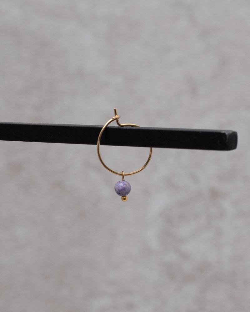 Mini Hoop Lilac Bead