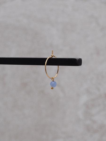 Ess Yello Mini Hoop Blue Bead