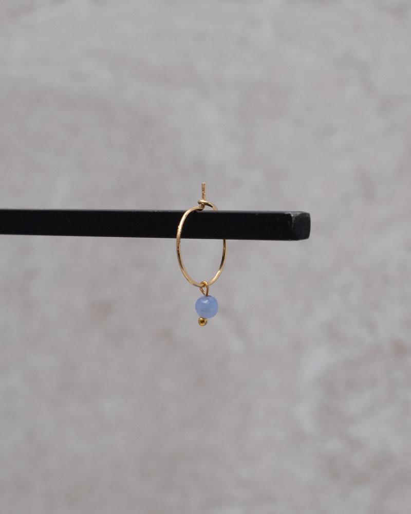 Mini Hoop Blue Bead