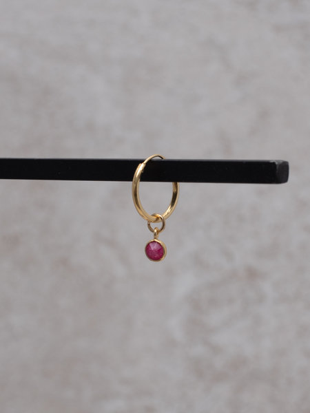 Ess Yello Simple Dot Earring Red
