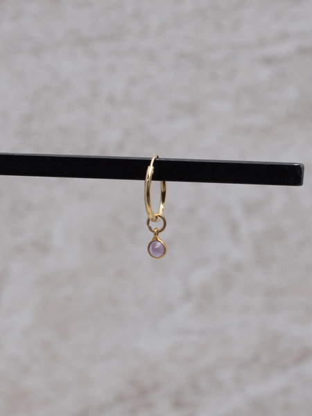 Ess Yello Simple Dot Earring Purple