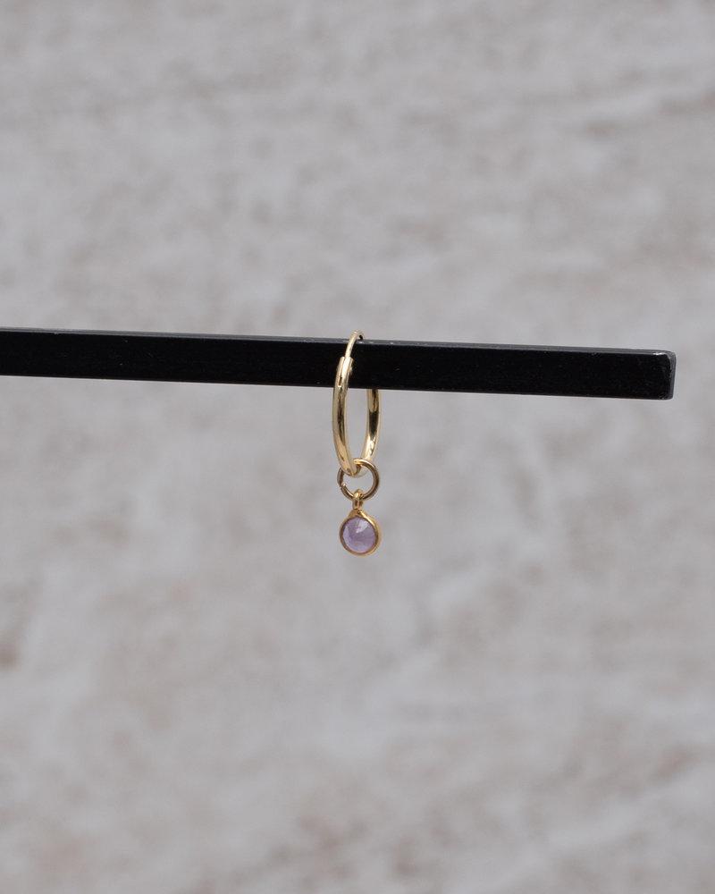 Simple Dot Earring Purple