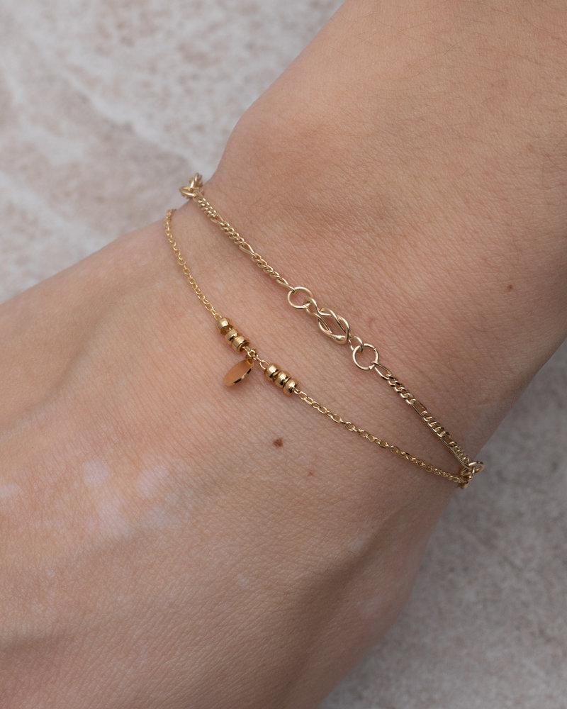 Gold Chip & Beads Bracelet