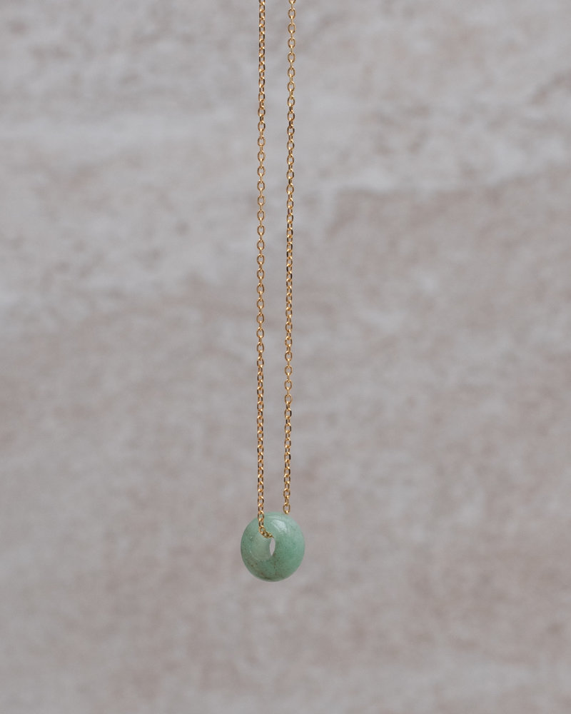 Stone Bead Necklace Green