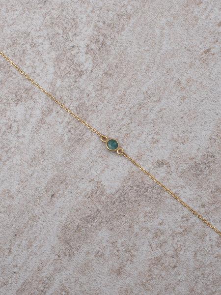 Ess Yello Gold Bracelet Mini Dot Green