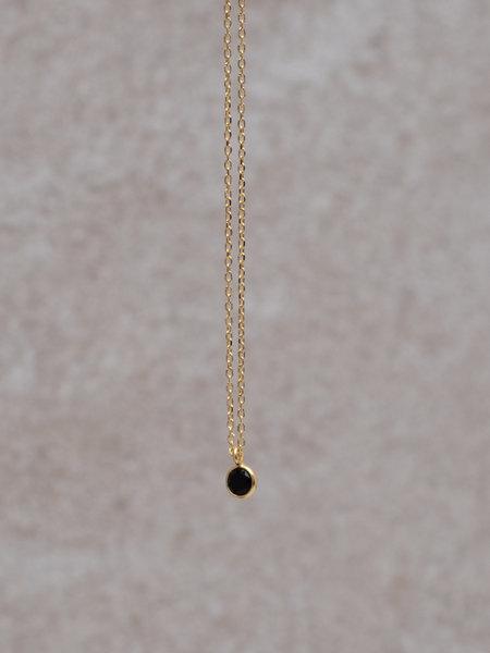 Ess Yello Necklace Mini Dot  Black Solo