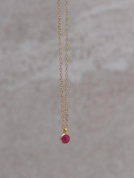 Ess Yello Necklace Minidot Pink Solo