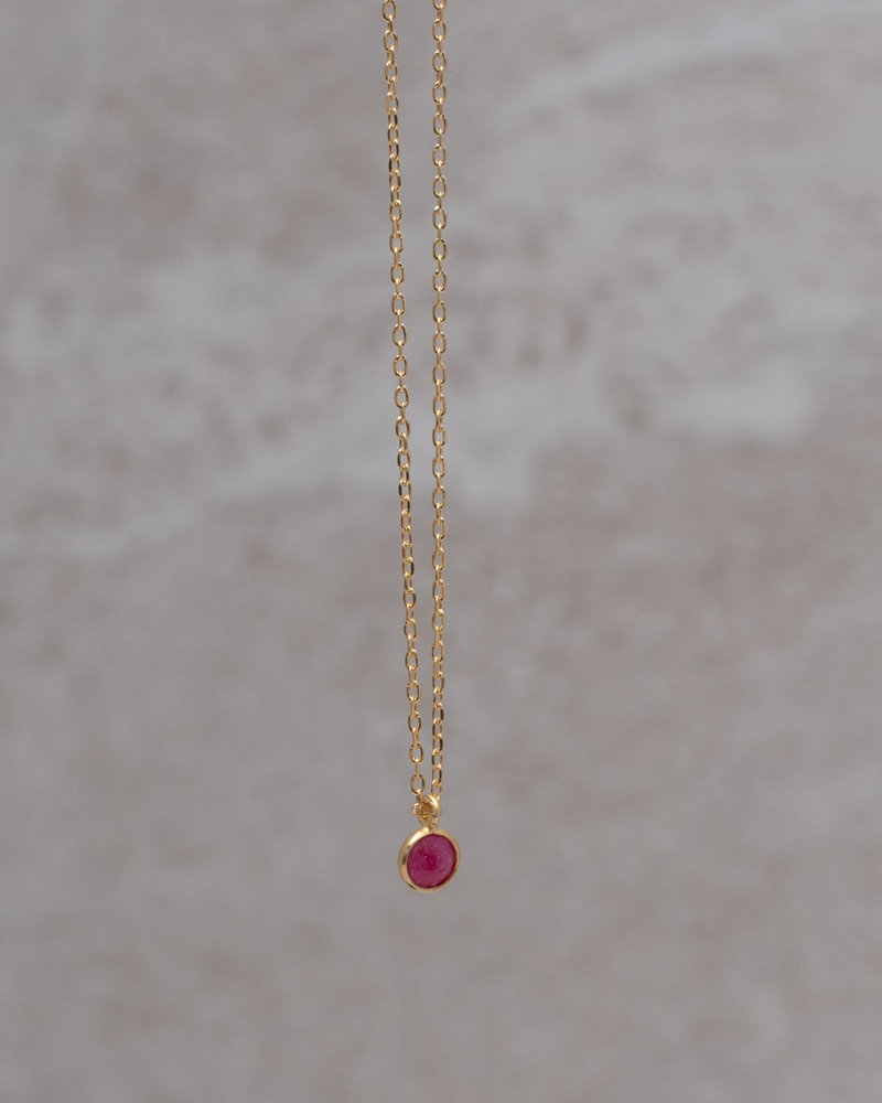 Necklace Minidot Pink Solo