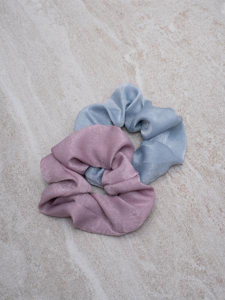 Yehwang Scrunchie Set Satin Lilac Light Blue