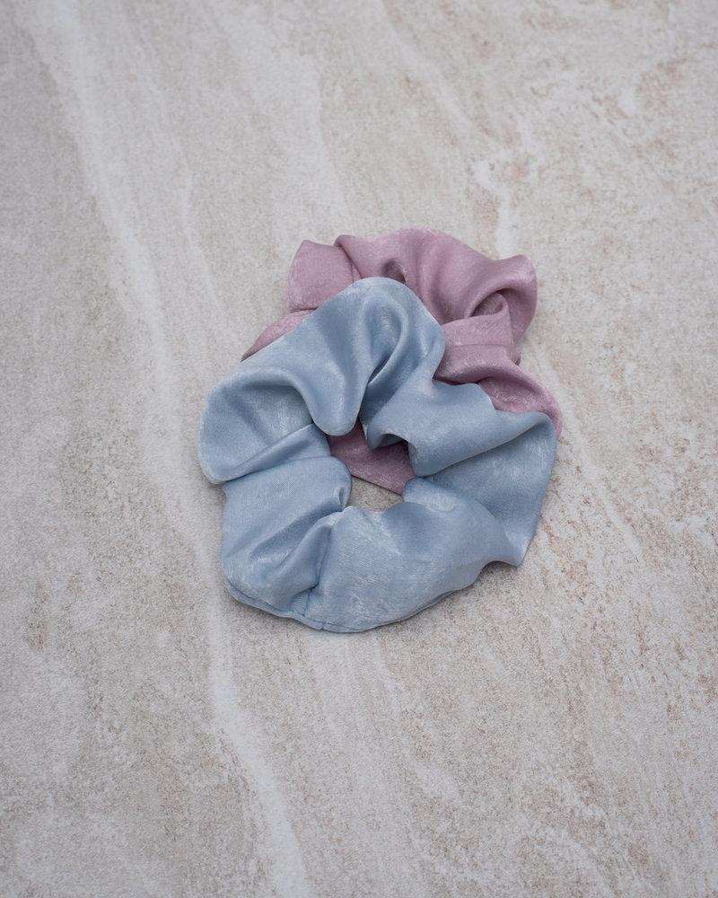 Scrunchie Set Satin Lilac Light Blue