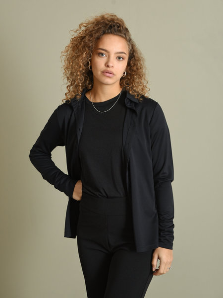 Rut & Circle Mia Modal Shirt Black