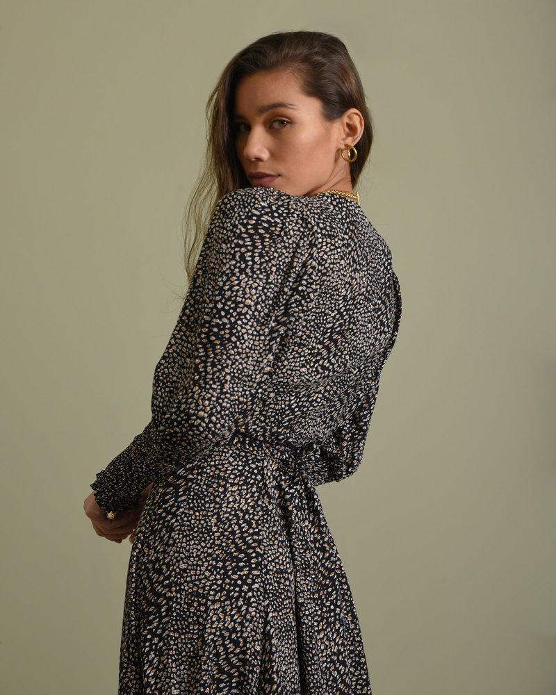 TILTIL Suzie Smock Dress Black Print