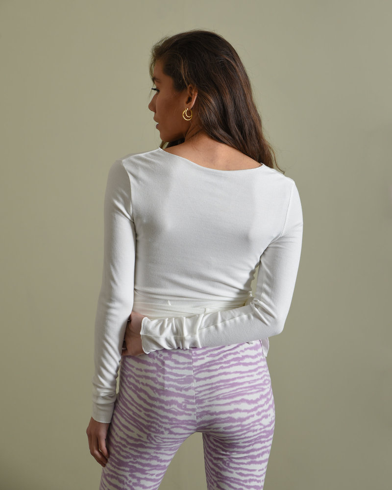 TILTIL Willy Wrap Top White One Size