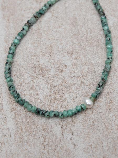 Dajumo Coral Ankle Bracelet Silver Pearl