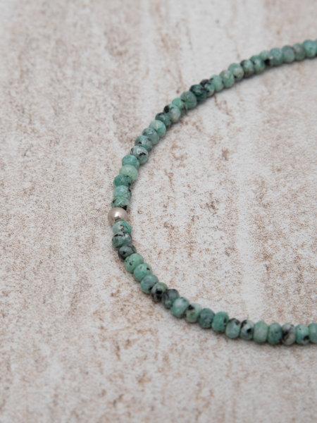 Dajumo Coral Ankle Bracelet Silver