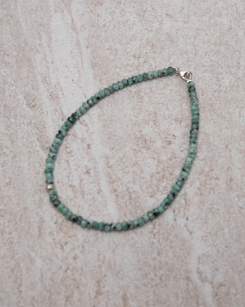Coral Ankle Bracelet Silver