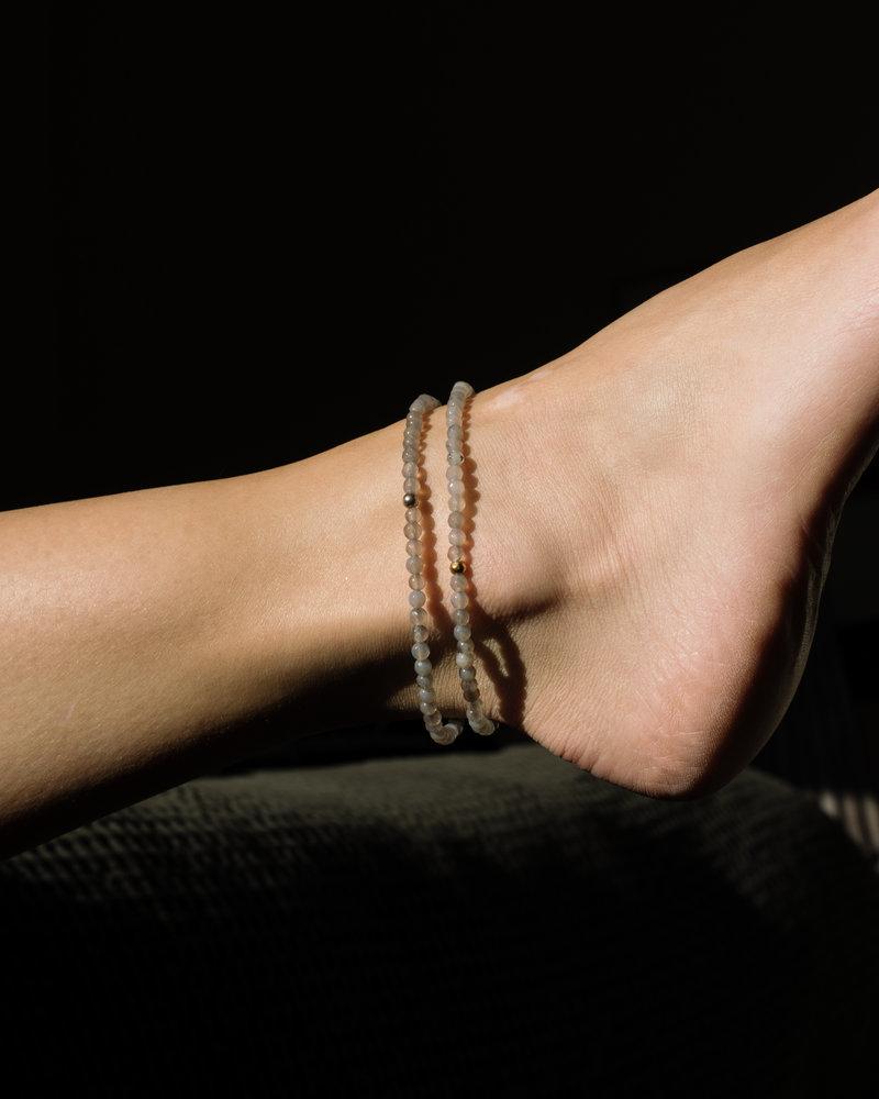 Silver Lining Ankle Bracelet Silver